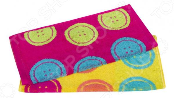 Комплект из 2-х махровых полотенец Dream Time «Разноцветные пуговки»