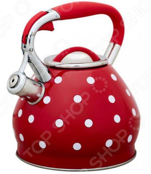 Чайник со свистком «Красный горошек»