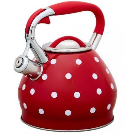 Купить Чайник со свистком Катунь «Красный горошек»