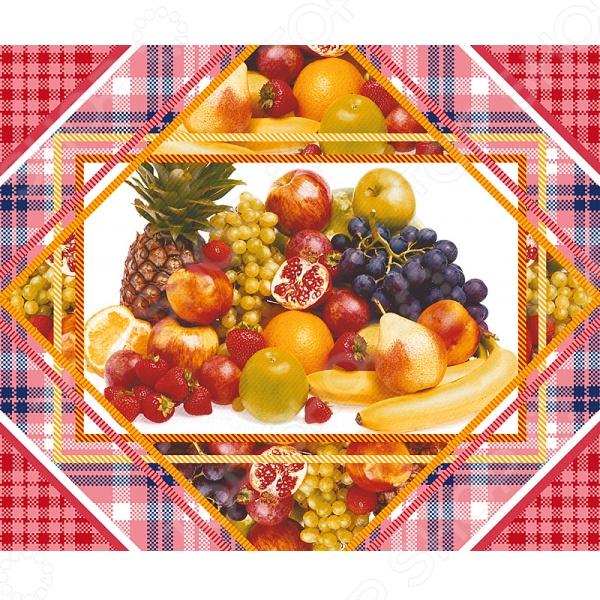 Комплект из 3-х кухонных полотенец подарочный ТексДизайн «Беатрис, Фрукты, Сиеста»
