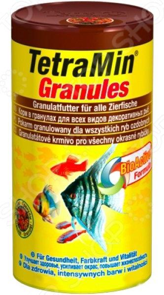 Корм для декоративных рыб Tetra Min Granules tetra корм для рыб tetra selection для всех видов рыб 4 вида хлопья чипсы гранулы 250мл