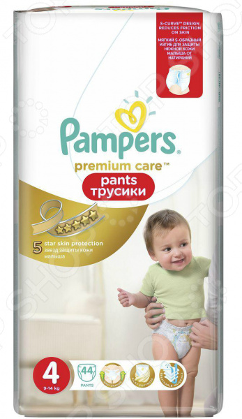 �������-���������� Pampers Premium Care Pants 9-14 ��, ������ 4, 44 ��.