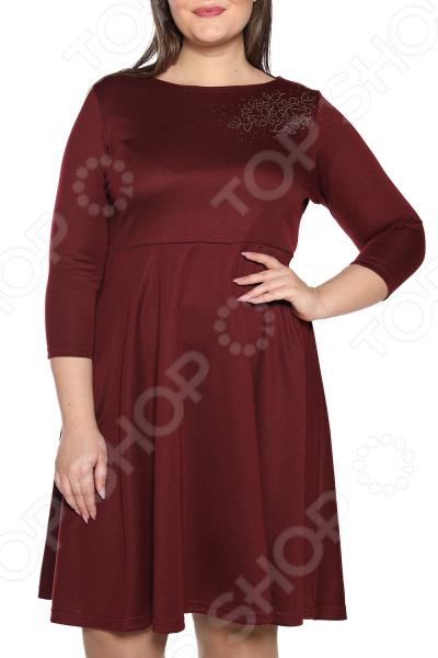 Платье ТРЕНД «Самая обаятельная». Цвет: бордовый платье тренд стильный силуэт цвет бордовый