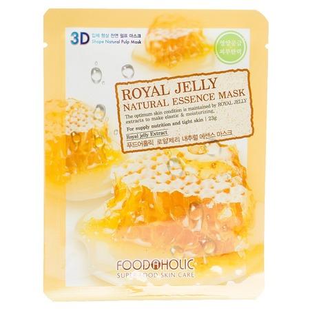Купить Маска тканевая для лица FoodaHolic 3D с натуральным экстрактом пчелиного маточного молочка