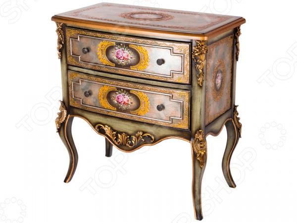 Комод 395-121 гладильный комод he wang с 3 корзинами и 2 ящиками цвет коричневый горчичный