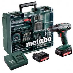Дрель-шуруповерт аккумуляторная Metabo BS 14.4 с набором оснастки