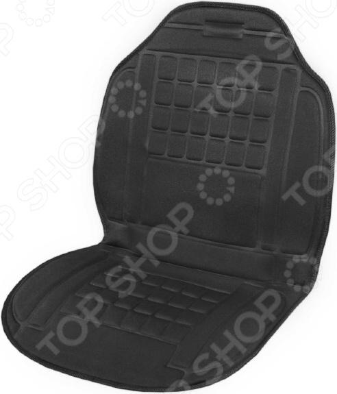 Накидка на сиденье с подогревом SKYWAY со спинкой 95х47 см Накидка на сиденье с подогревом SKYWAY S02201027 /Черный