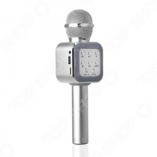 Микрофон для караоке WS-1818    /Серебристый