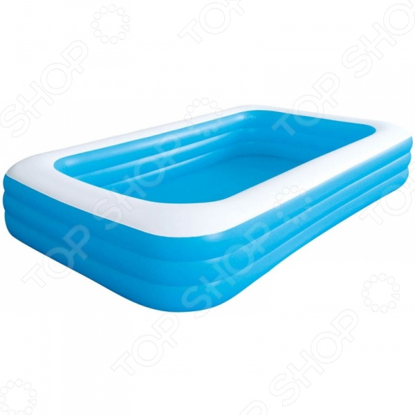 Бассейн надувной Jilong Giant Rectangular Pool 3-ring JL016014-1NPF бассейн каркасный jilong rectangular 300х207х70см голубой 17441eu