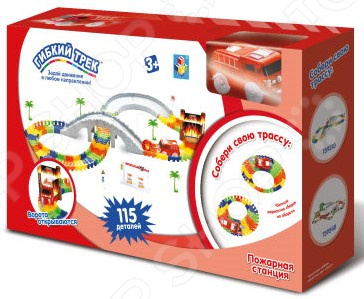 Конструктор игровой 1 Toy «Гибкий трек. Пожарная станция» игровой набор hasbro город пожарная станция b3415