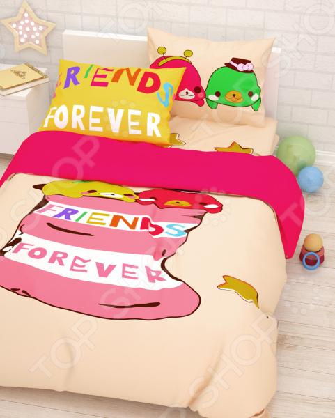 Детский комплект постельного белья Сирень «Лучшие друзья»