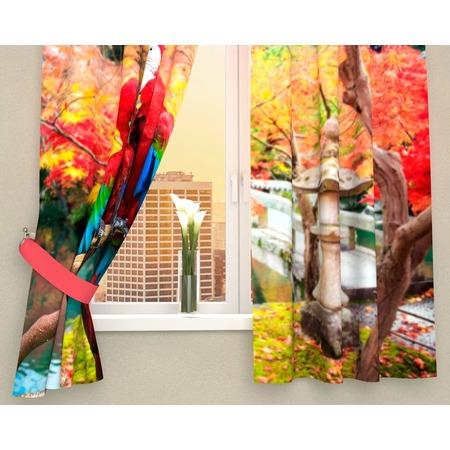 Купить Фотошторы Сирень «Попугаи в Японии»