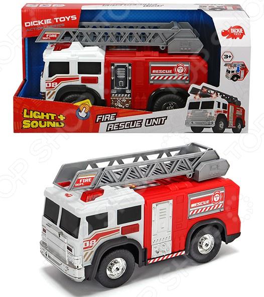 Машинка со светозвуковыми эффектами Dickie «Пожарная машина» игровые наборы dickie полицейский набор свободный ход 6 24