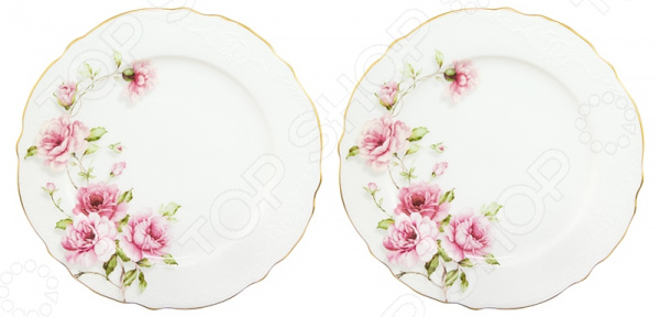 Набор десертных тарелок Elan Gallery «Амалия»