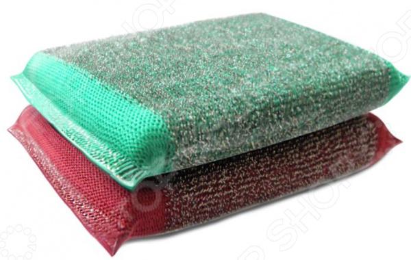Набор губок для мытья посуды Хозяюшка «Мила: Задира» набор для мытья посуды topperr 3413