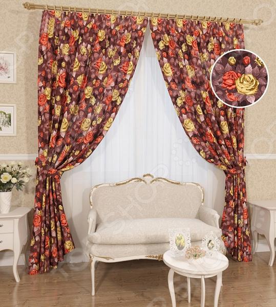 Комплект штор Сирень «Жанет» комплект штор с покрывалом для спальни в москве