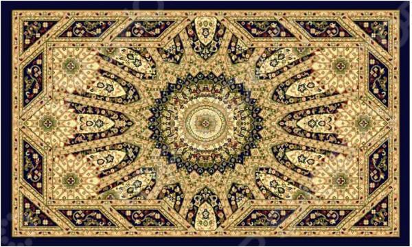 Ковер прямоугольный Kamalak tekstil «Солнце». Цвет: синий - артикул: 1602329