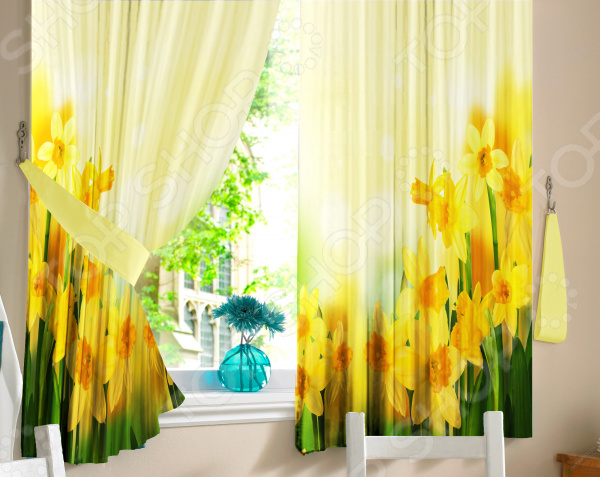 Комплект штор ТамиТекс «Нарциссы» сетка для игрушек в ванну купить в волгограде