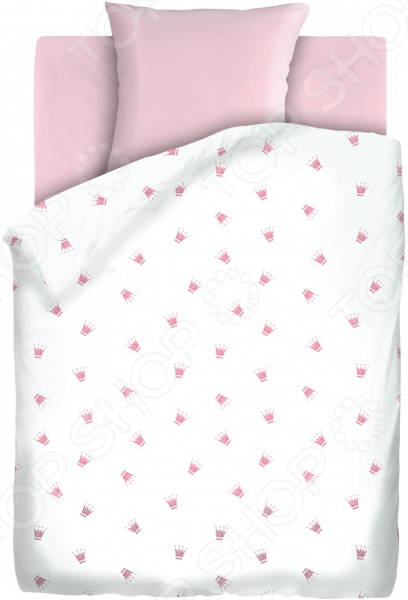 Ясельный комплект постельного белья Непоседа «Коронки»