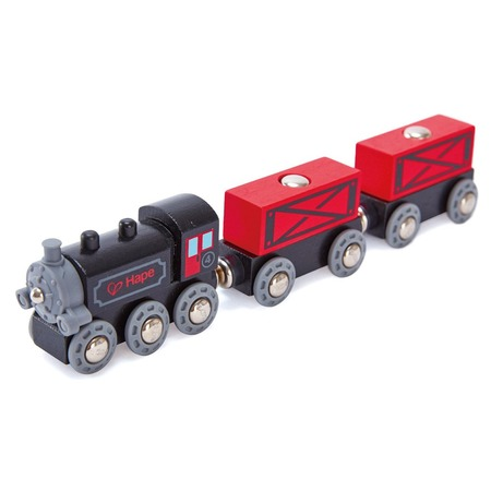 Купить Набор: паровозик и вагоны Hape «Товарный поезд»