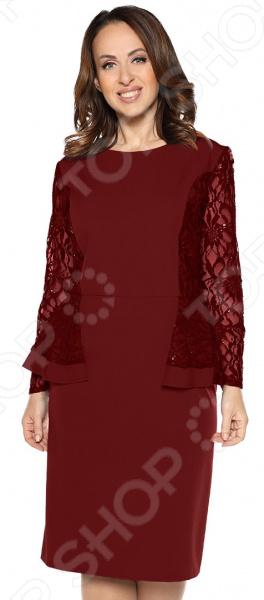 цена Платье Pretty Woman «Белиссимо». Цвет: бордовый онлайн в 2017 году