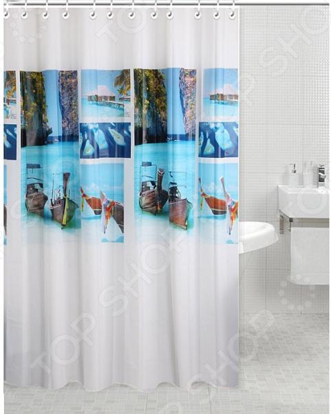 Штора для ванной комнаты Rosenberg RPE-730011 декоративные перегородки для зонирования комнаты калуга