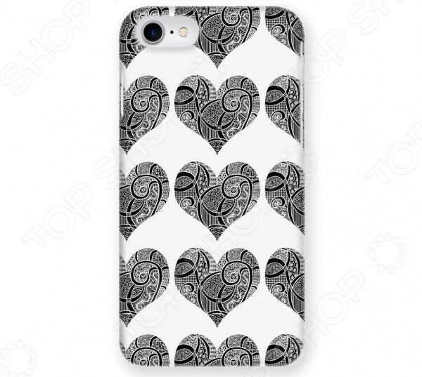 Чехол для iPhone 7 Mitya Veselkov «Зентангл-сердца» чехлы для телефонов mitya veselkov чехол для iphone 7 plus зентангл череп ip7plus mitya 010