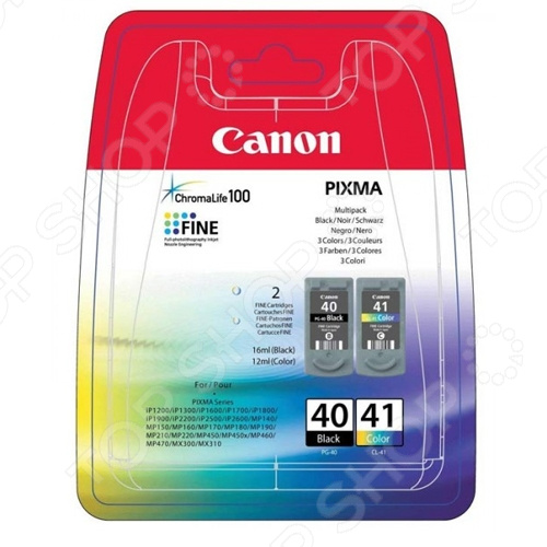Картридж струйный Canon PG-40+CL-41 картридж canon cl 41 color для mp450 mp150 mp170 ip1600 ip2200 ip6210d 0617b025