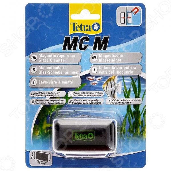 Скребок для аквариума Tetra MC средний плавающий магнитный скребок jbl floaty m для стекол толщиной до 10 мм