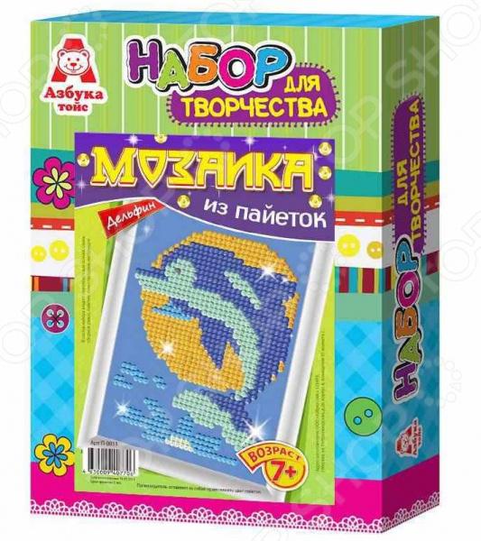 купить Мозаика из пайеток Азбука тойс «Дельфин» по цене 439 рублей