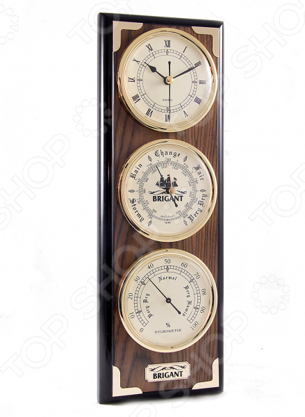 Часы-метеостанция настенные Brigant 28141