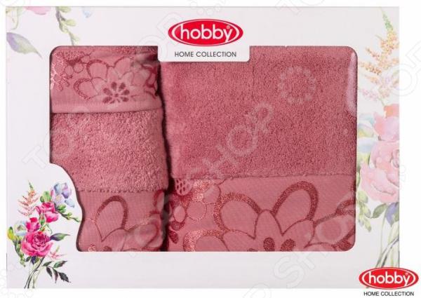 Комплект из 3-х махровых полотенец подарочный Hobby Home Collection Dora. Размер: 30х50 см, 50х90 см, 70х140 см hobby home collection полотенце dora цвет светло голубой 50х90 см