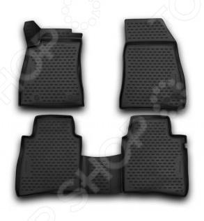 Комплект 3D ковриков в салон автомобиля Novline-Autofamily Nissan Tiida 2015 комплект ковриков в салон автомобиля novline autofamily nissan tiida 2004 седан цвет черный