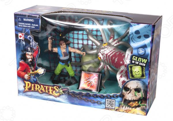 Игровой набор с фигурками Chapmei «Пираты: Ловушка для кракена» Игровой набор с фигурками Chapmei «Пираты: Ловушка для кракена» /