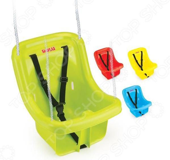 Качели детские подвесные Dolu с защитным креплением и ремнем. В ассортименте