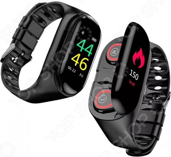 фото Фитнес-браслет Lemfo M1 с беспроводными наушниками, Умные часы и браслеты