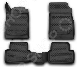 Комплект 3D ковриков в салон автомобиля Novline-Autofamily Chevrolet Cruze 2009-2015 комплект 3d ковриков в салон автомобиля novline autofamily ford mondeo 2015