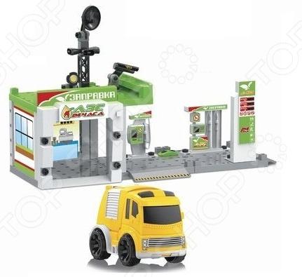 Набор игровой с машинкой Наша Игрушка «Автозаправочная станция» игровой набор наша игрушка автозаправочная станция разноцветный m7143