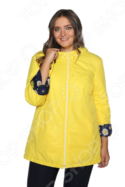 Куртка Гранд Гром «Букет ромашек». Цвет: желтый california exotic silhouette s8 pink перезаряжаемый вибромассажер