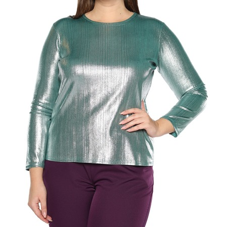 Купить Блуза Blagof «Изысканный блеск». Цвет: изумрудный