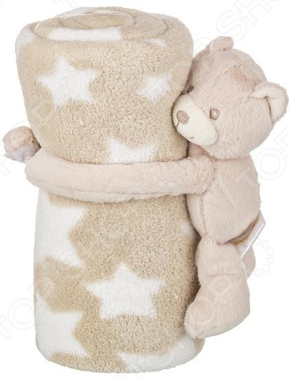 Плед детский с игрушкой Santalino «Звездный мишка» 851-005
