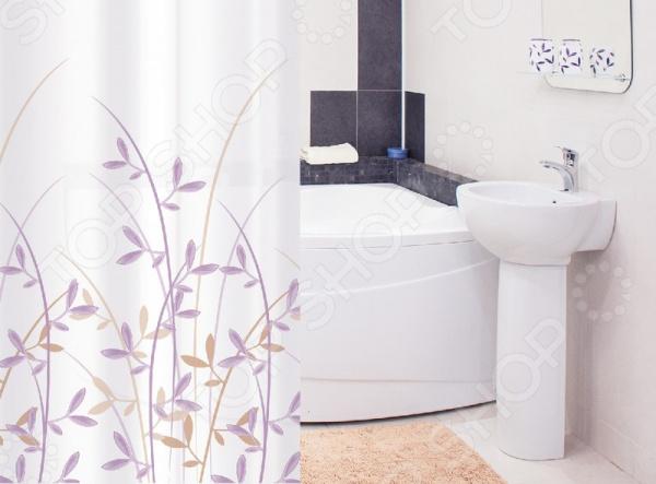Штора для ванной Tatkraft Immanuel OliveTextile