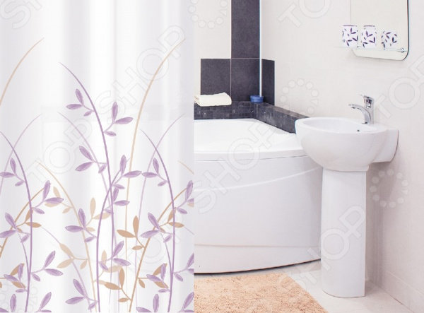 Штора для ванной Tatkraft Immanuel OliveTextile крючок двойной tatkraft mega lock на вакуумном шурупе