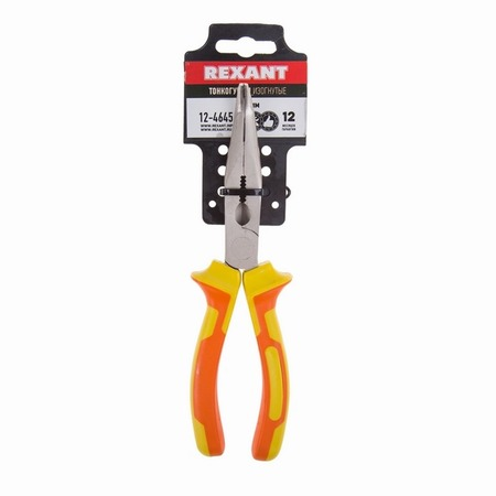 Купить Тонкогубцы изогнутые диэлектрические Rexant 12-4645
