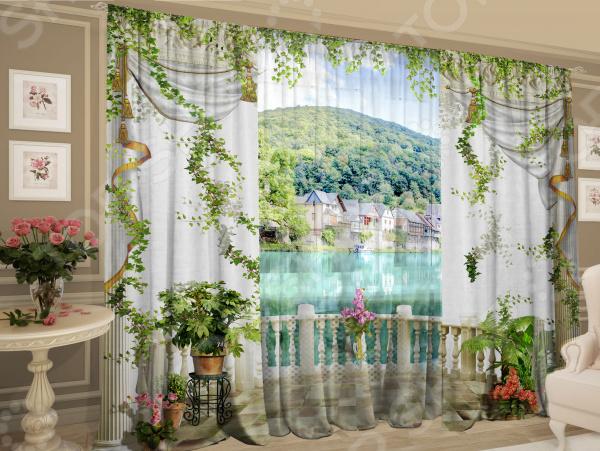 Комплект: шторы и тюль Zlata Korunka «Знакомые окрестности»