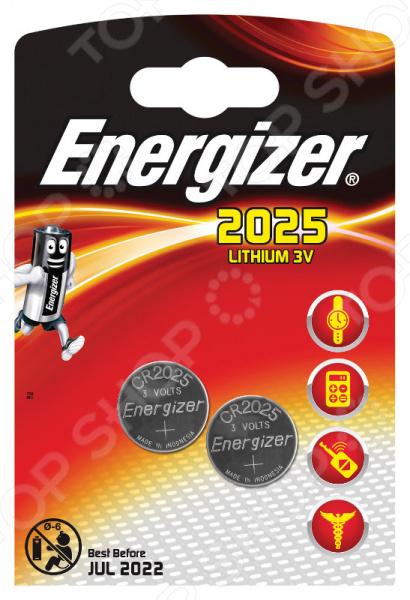 Набор литиевых батареек Energizer Lithium CR2025 FSB2