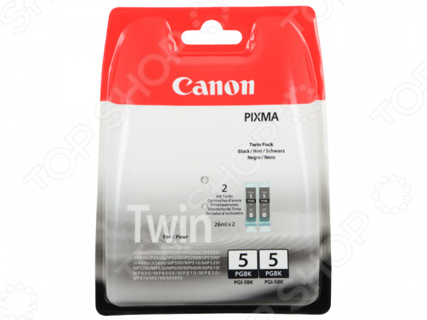 Картридж Canon PGI-5BK Twin Pack