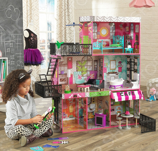 все цены на Домик кукольный KidKraft «Бруклинский Лофт» онлайн