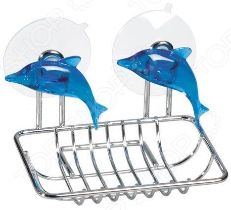 Мыльница Tatkraft Dolphin Blue полка для ванной tatkraft mega lock