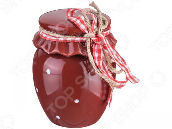 Банка для меда Agness 490-096 маленькая бутылочка тара оптом
